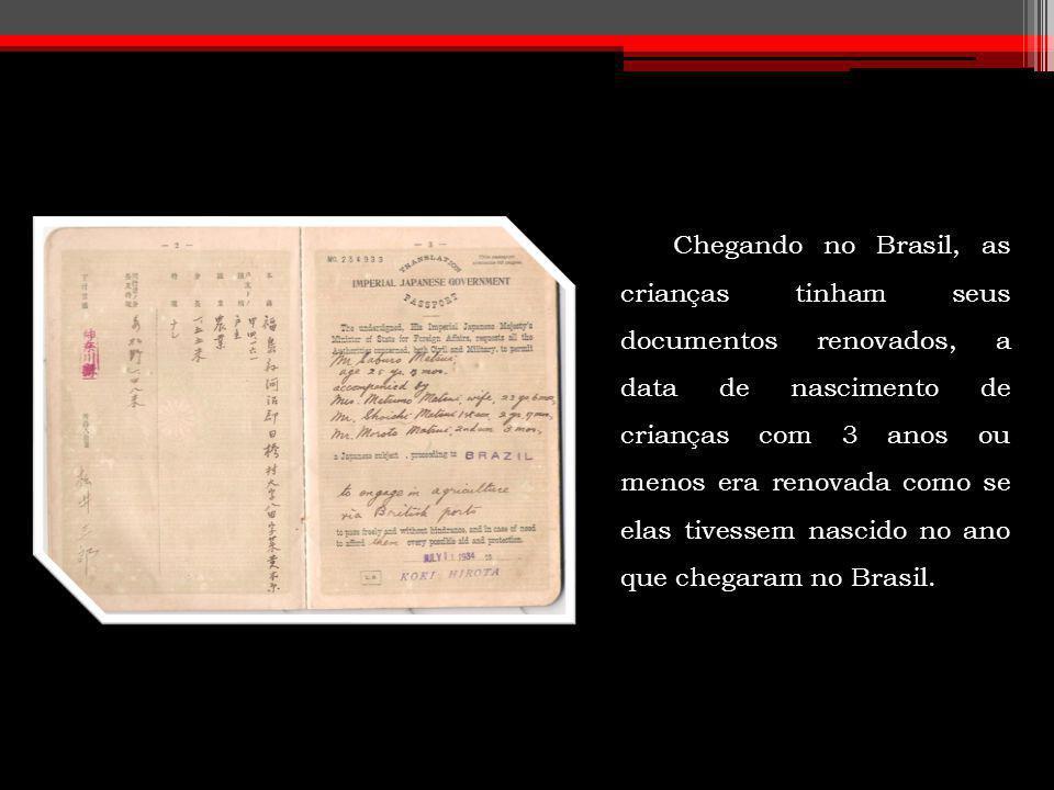 Chegando no Brasil, as crianças tinham seus documentos renovados, a data de nascimento de crianças com 3 anos ou menos era renovada como se elas tivessem nascido no ano que chegaram no Brasil.