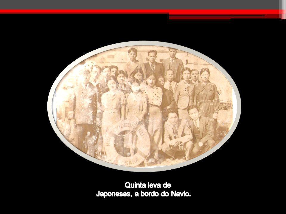 Quinta leva de Japoneses, a bordo do Navio.