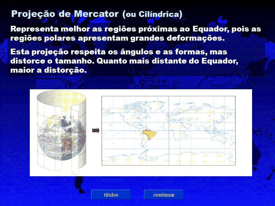 Projeção de Mercator (ou Cilíndrica)