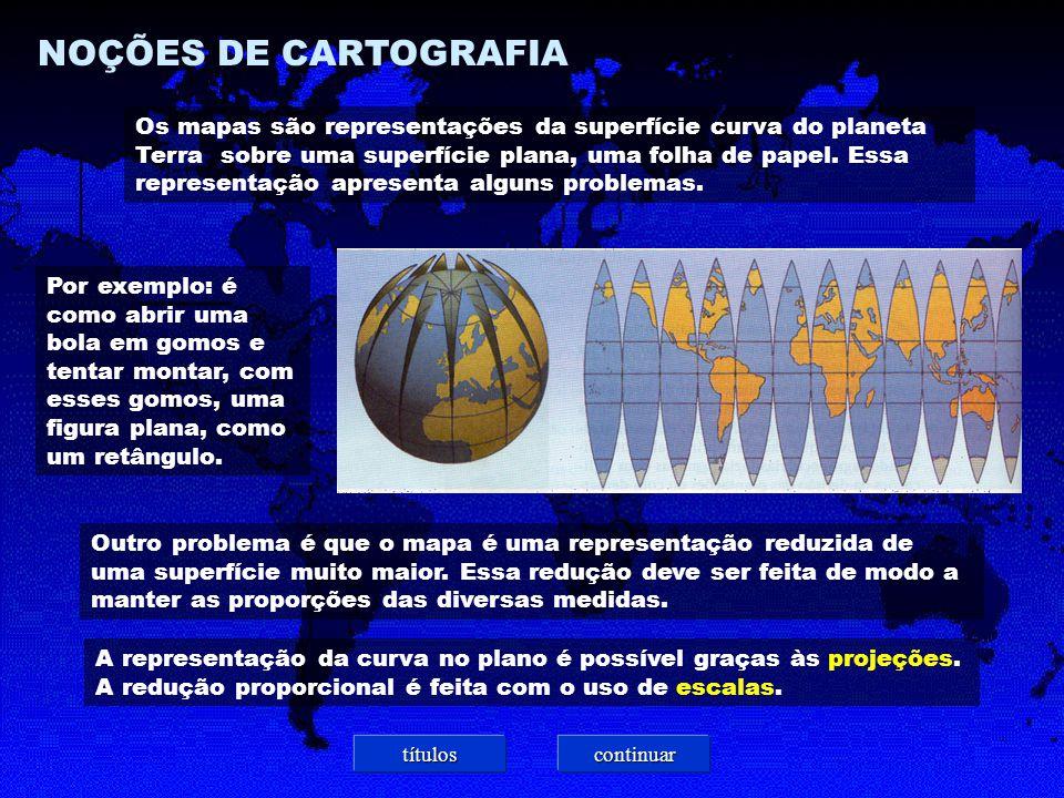 NOÇÕES DE CARTOGRAFIA