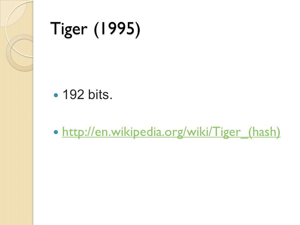 Tiger (1995) 192 bits. http://en.wikipedia.org/wiki/Tiger_(hash)