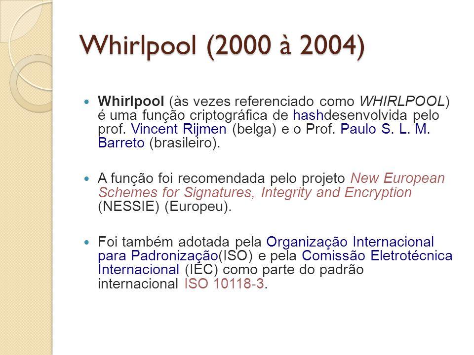 Whirlpool (2000 à 2004)