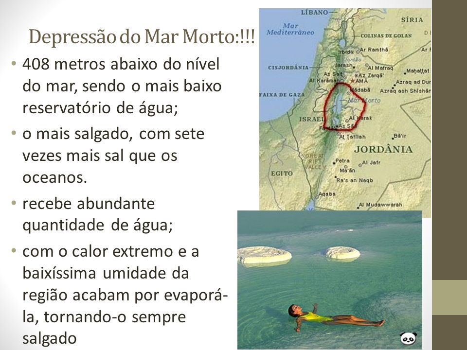 Depressão do Mar Morto:!!!