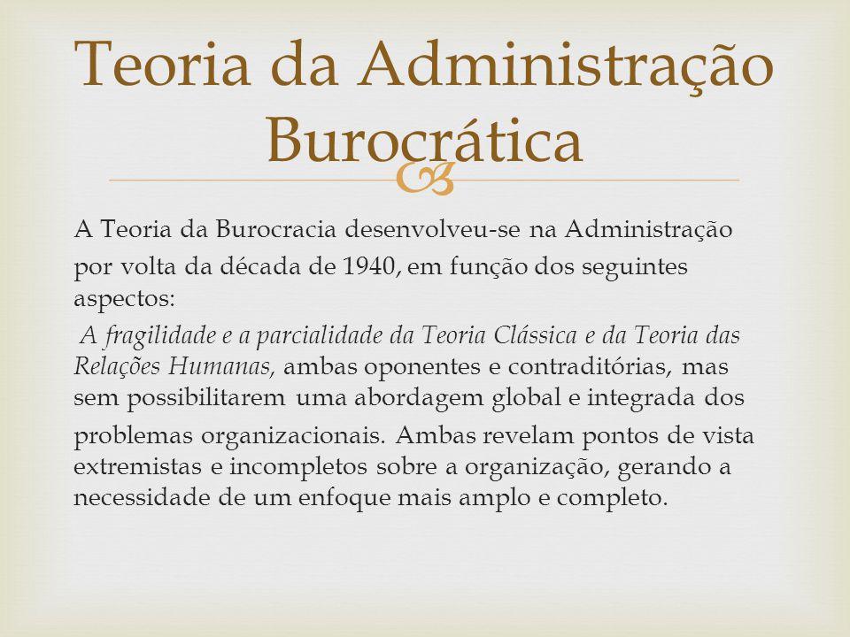 Teoria da Administração Burocrática