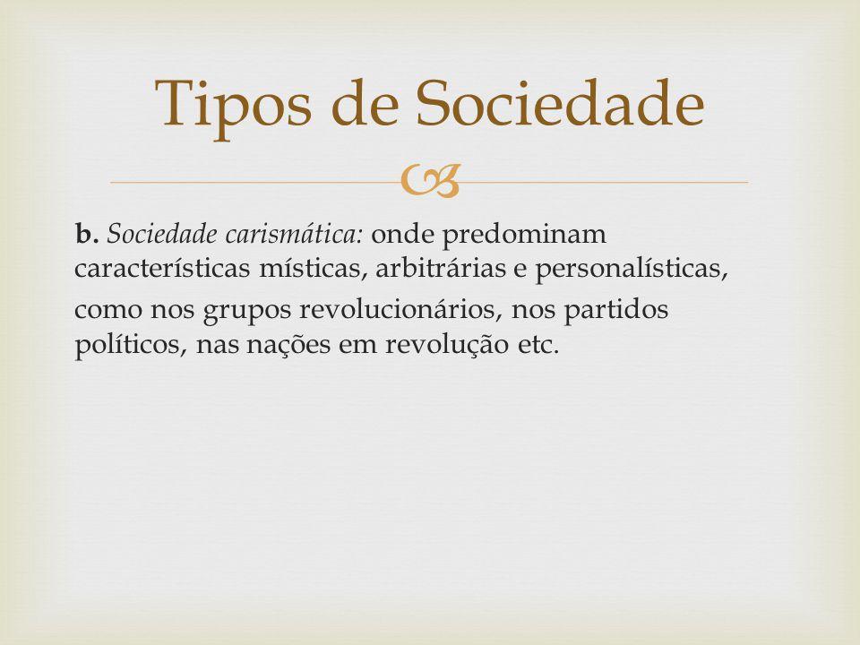Tipos de Sociedade