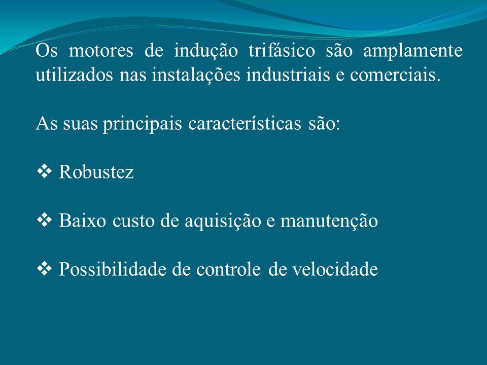 Os motores de indução trifásico são amplamente utilizados nas instalações industriais e comerciais.