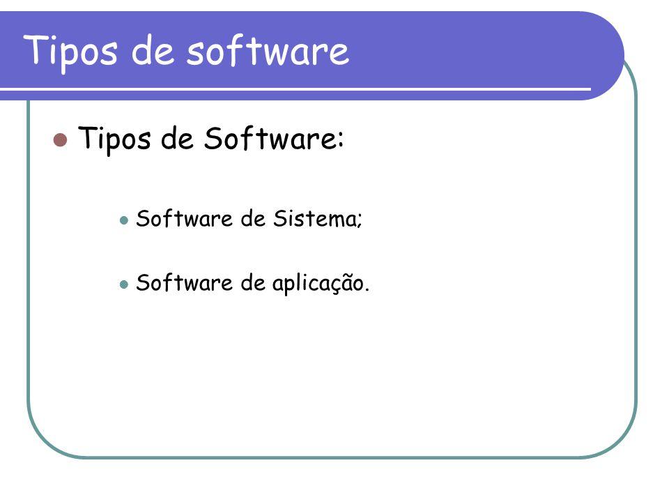 Tipos de software Tipos de Software: Software de Sistema;