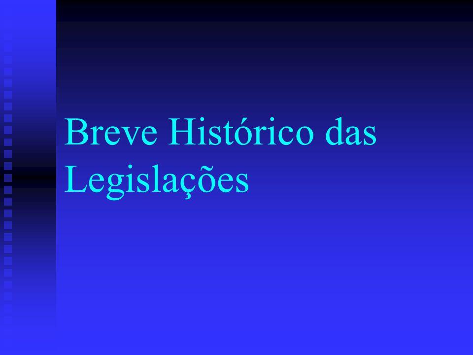 Breve Histórico das Legislações