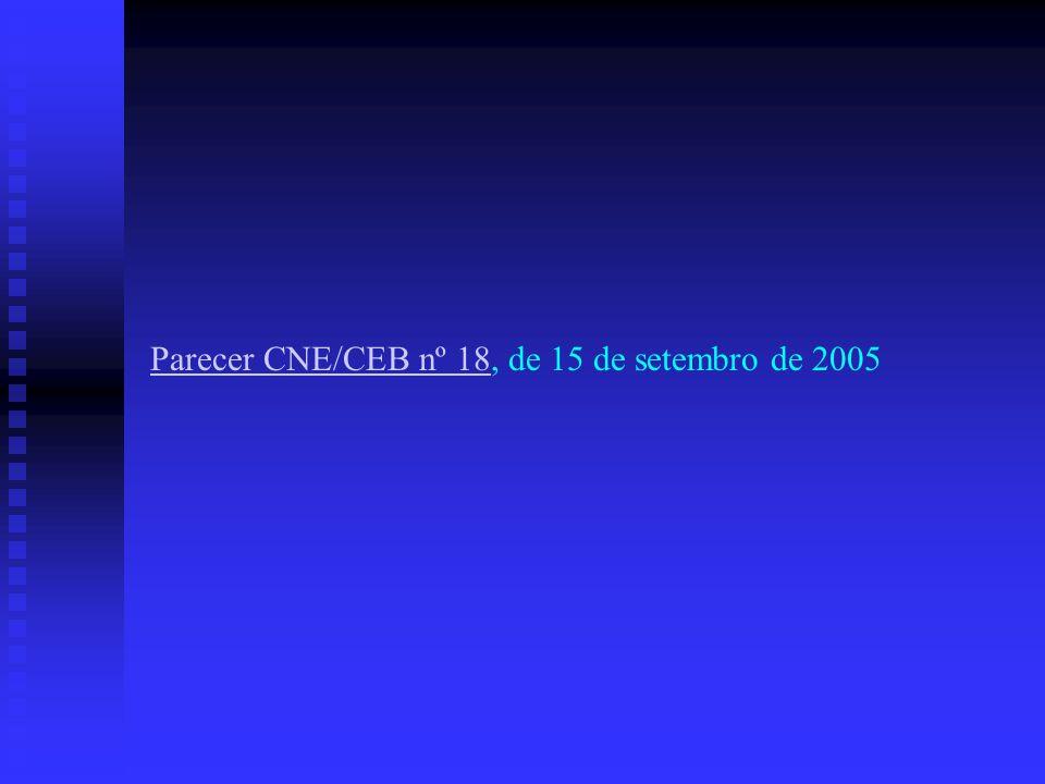 Parecer CNE/CEB nº 18, de 15 de setembro de 2005