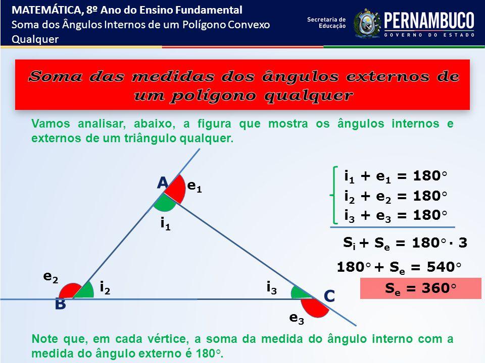 Soma das medidas dos ângulos externos de um polígono qualquer