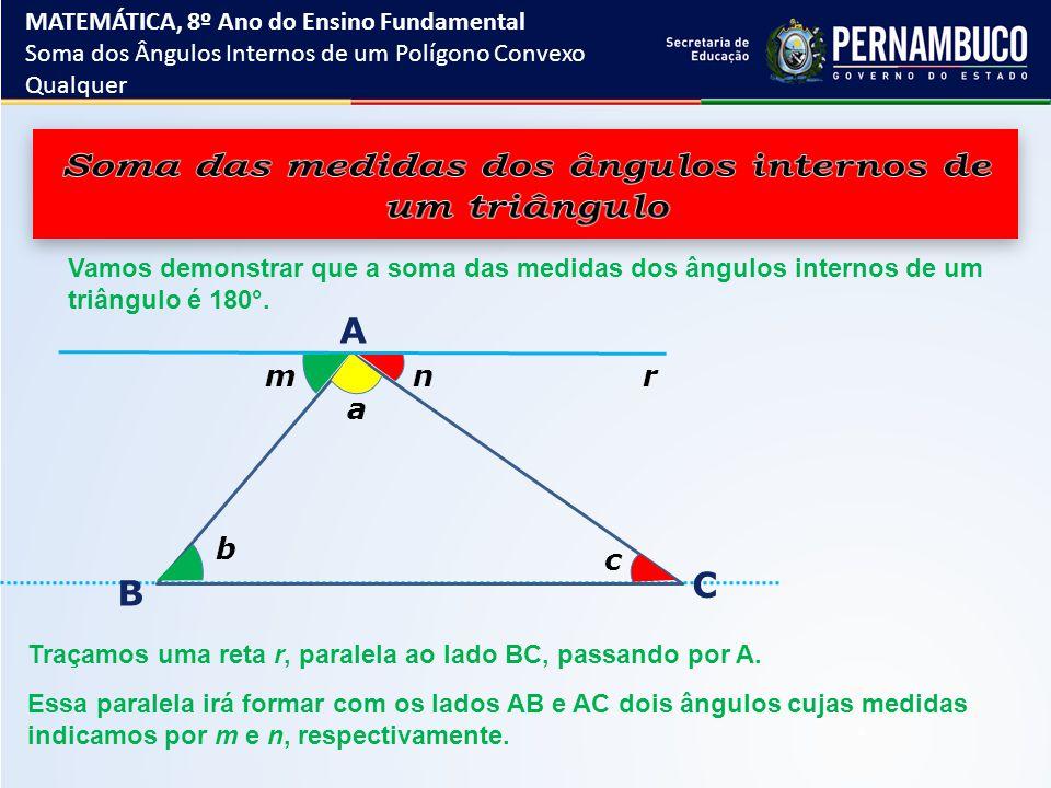 Soma das medidas dos ângulos internos de um triângulo