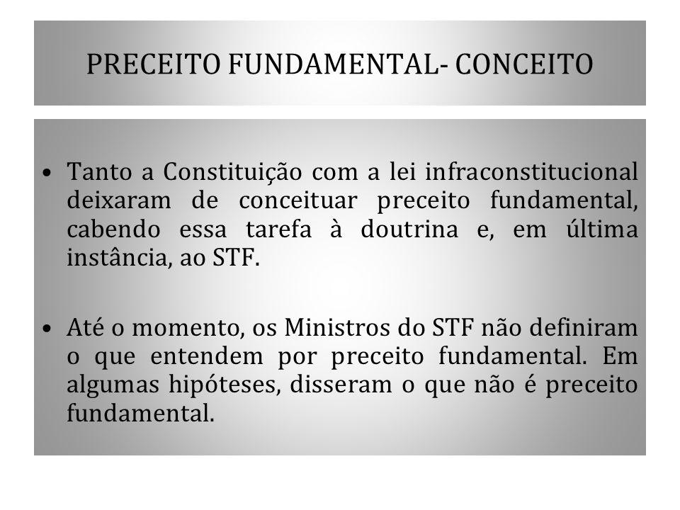 PRECEITO FUNDAMENTAL- CONCEITO
