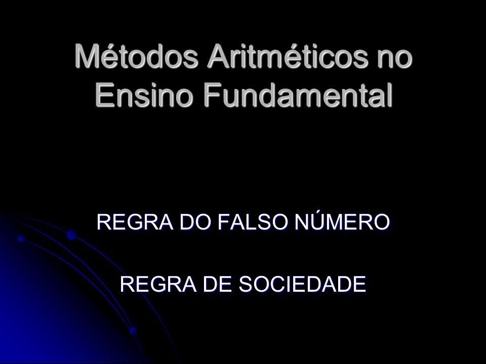 Métodos Aritméticos no Ensino Fundamental