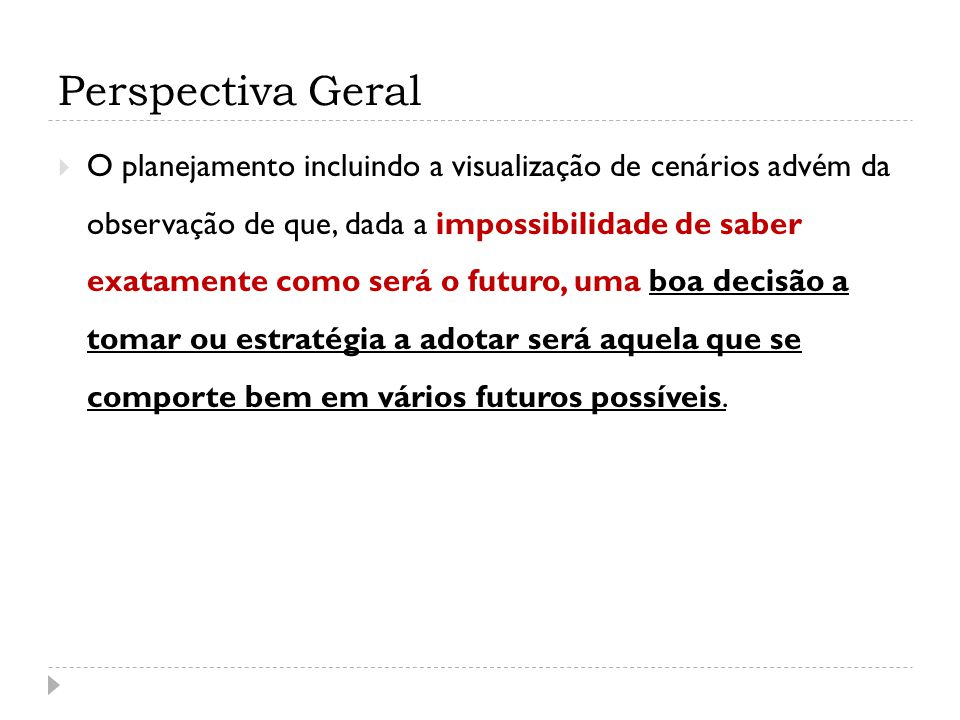 Perspectiva Geral