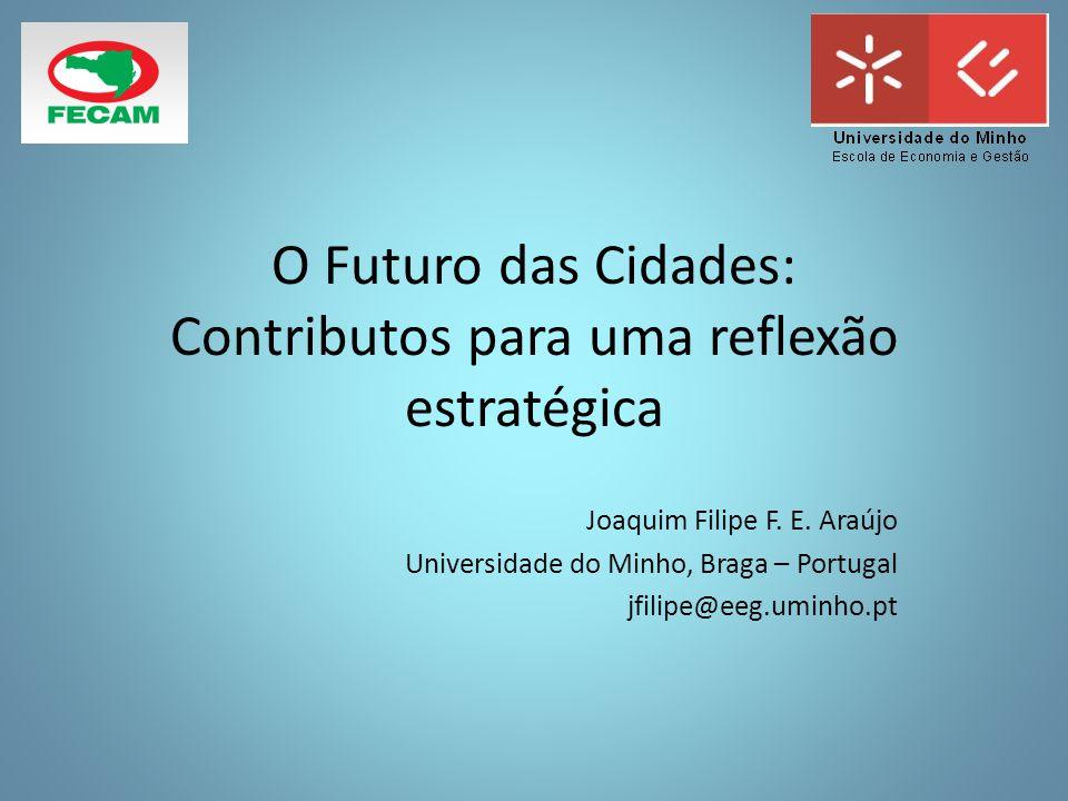 O Futuro das Cidades: Contributos para uma reflexão estratégica