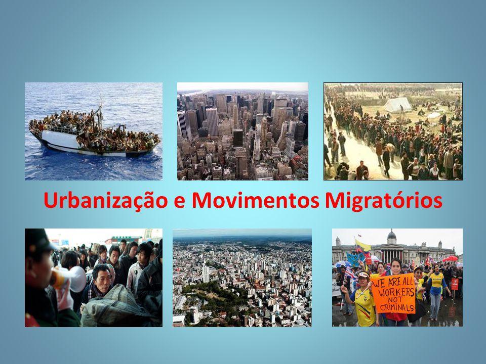 Urbanização e Movimentos Migratórios