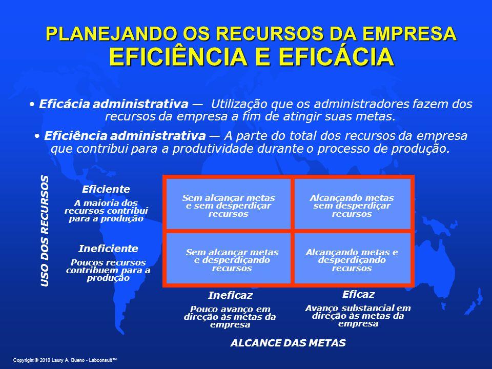 PLANEJANDO OS RECURSOS DA EMPRESA EFICIÊNCIA E EFICÁCIA