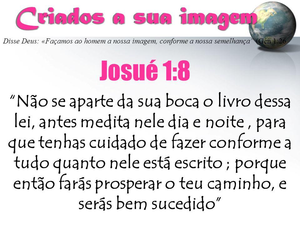 Criados a sua imagem Josué 1:8