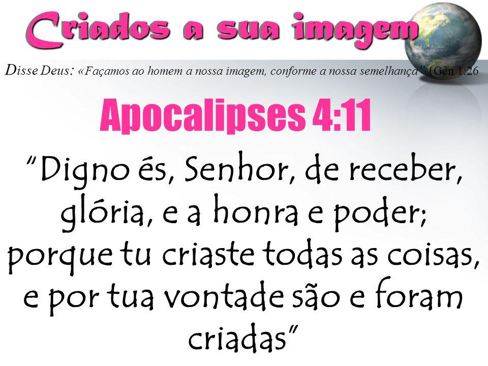 Criados a sua imagem Apocalipses 4:11