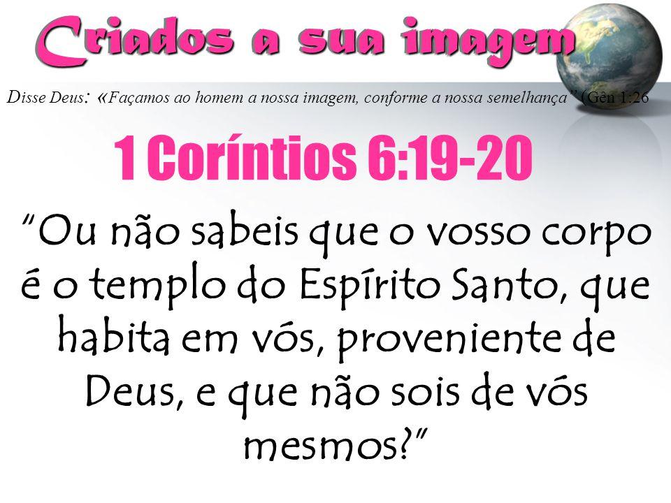 Criados a sua imagem 1 Coríntios 6:19-20