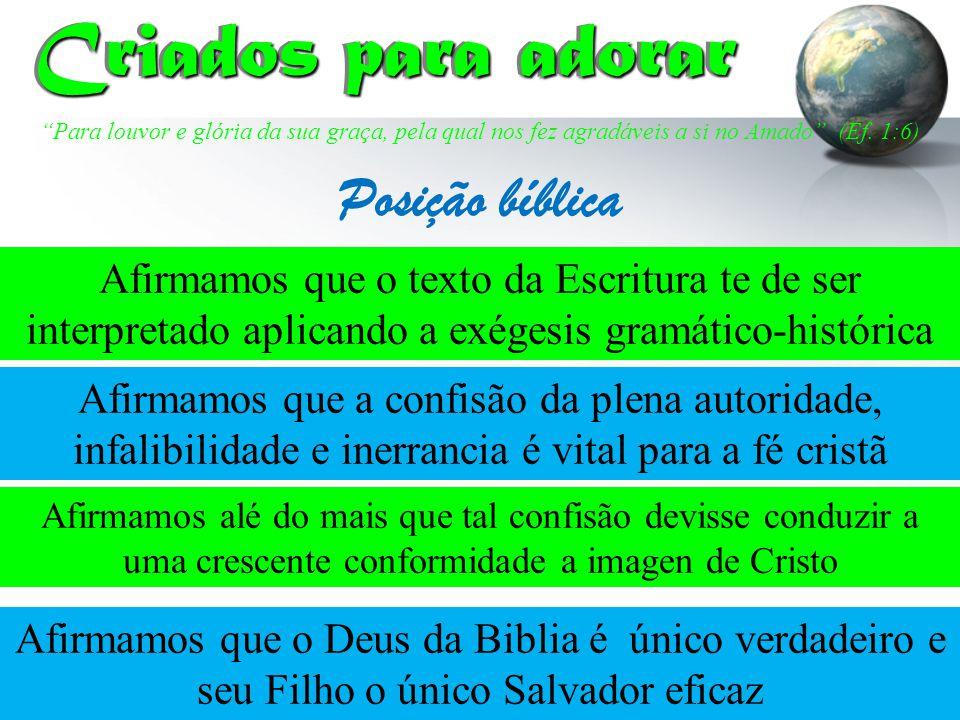 Criados para adorar Posição bíblica