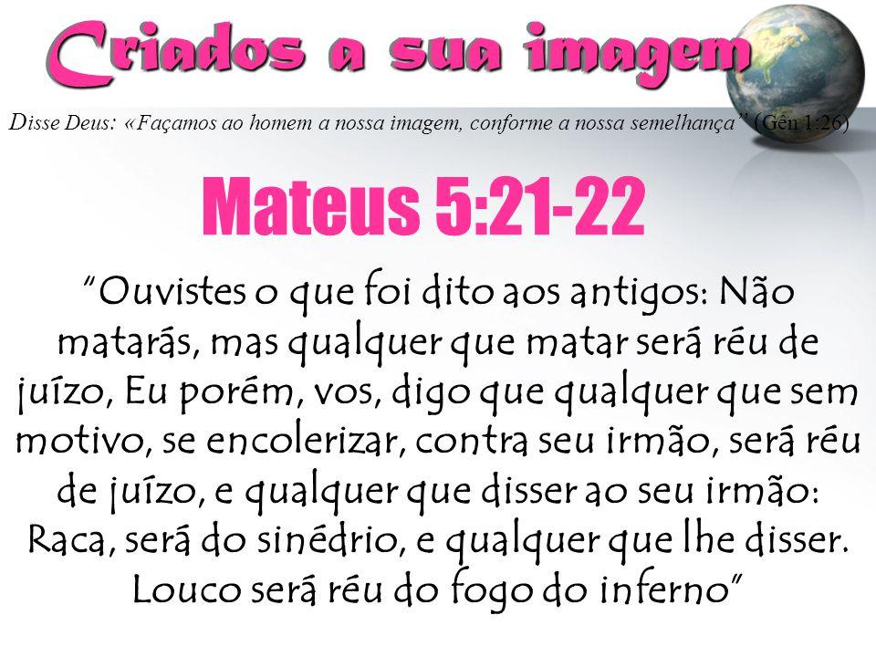 Criados a sua imagem Mateus 5:21-22