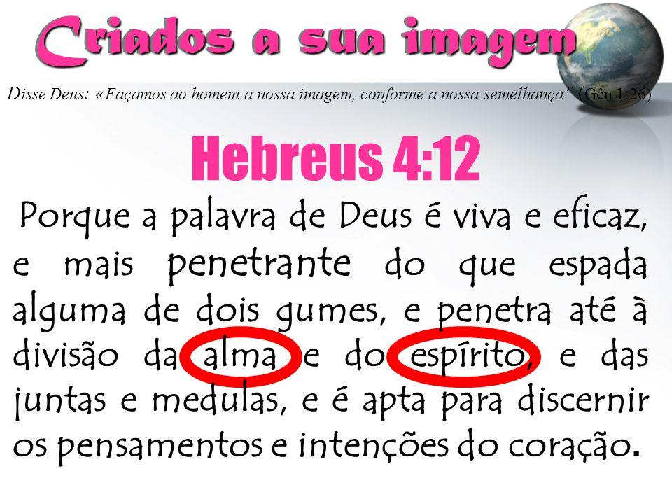 Criados a sua imagem Hebreus 4:12