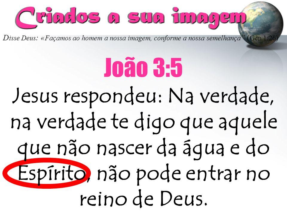 Criados a sua imagem João 3:5