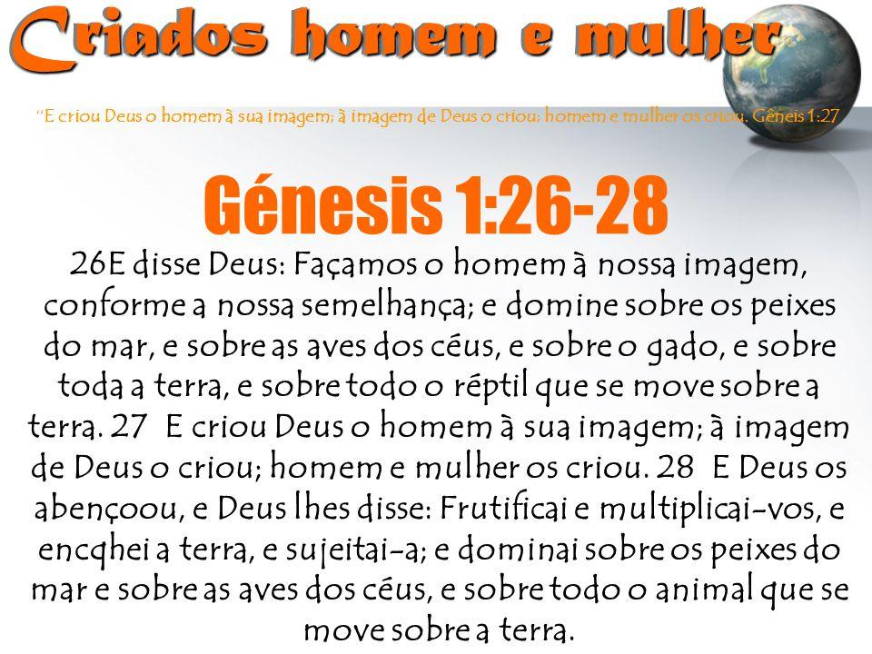 Criados homem e mulher Génesis 1:26-28