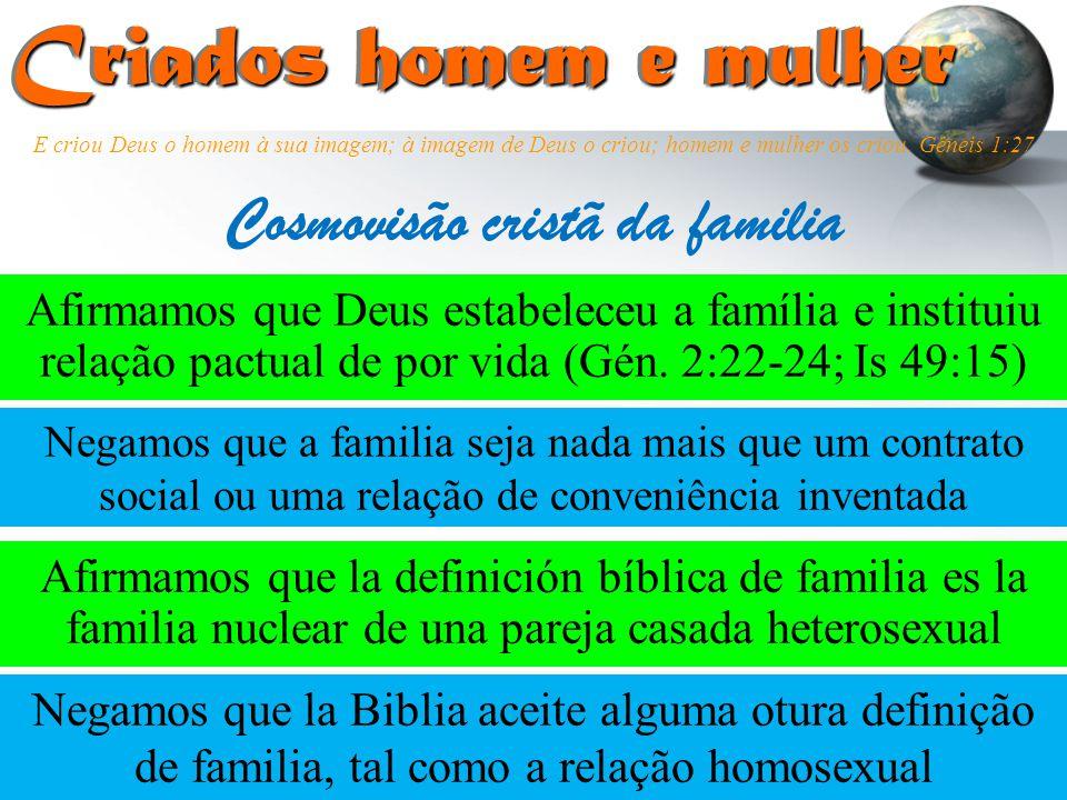 Cosmovisão cristã da familia