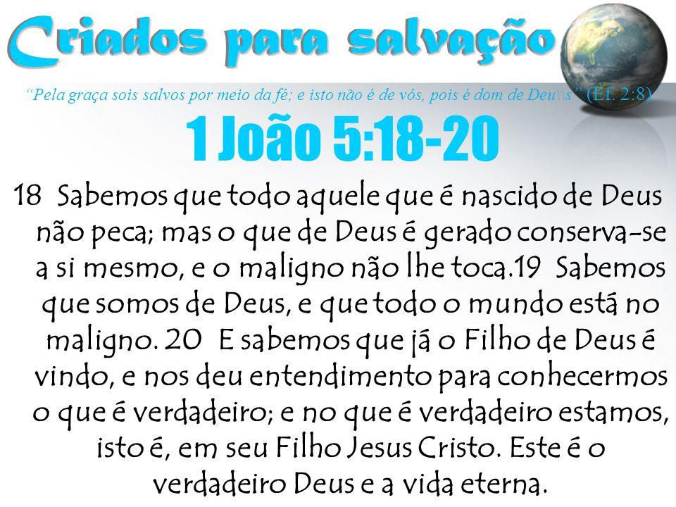 Criados para salvação 1 João 5:18-20