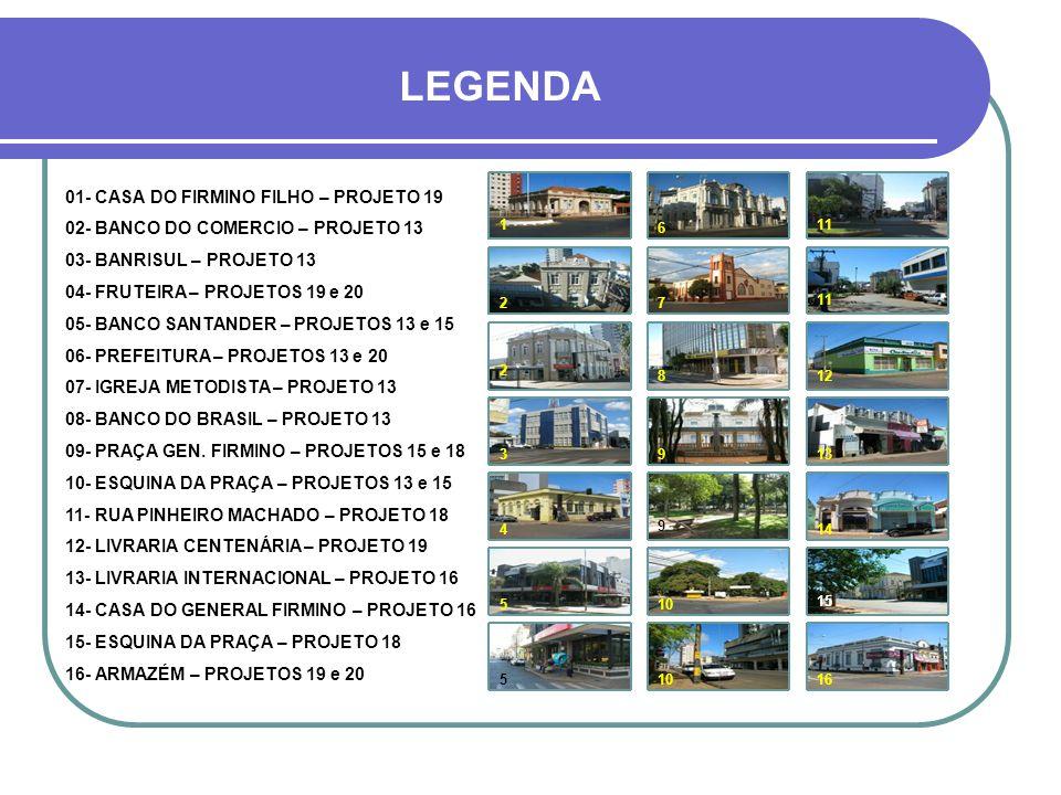 LEGENDA 01- CASA DO FIRMINO FILHO – PROJETO 19