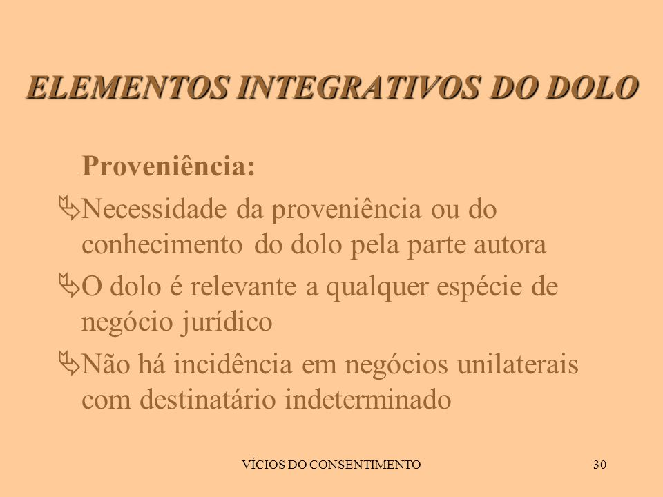 ELEMENTOS INTEGRATIVOS DO DOLO