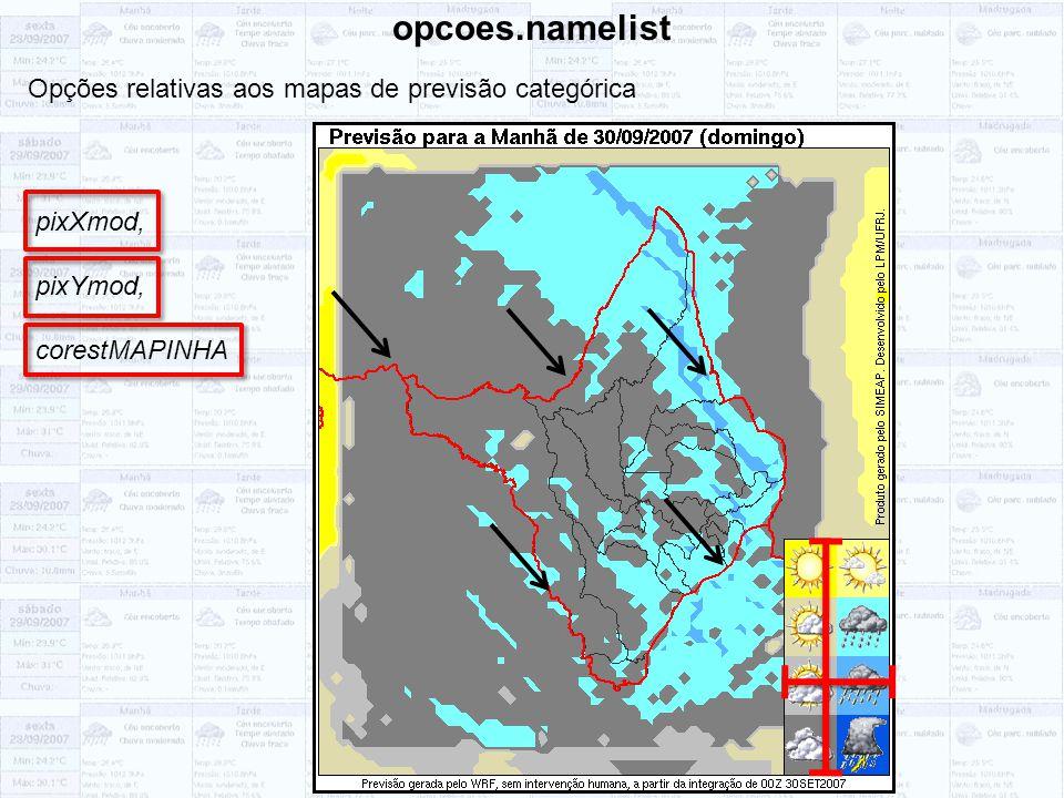 opcoes.namelist Opções relativas aos mapas de previsão categórica