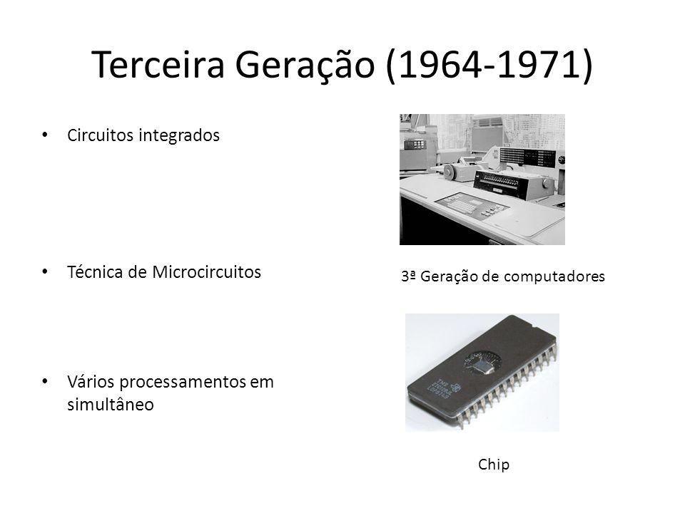 Terceira Geração (1964-1971) Circuitos integrados