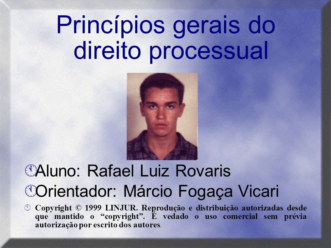 Princípios gerais do direito processual