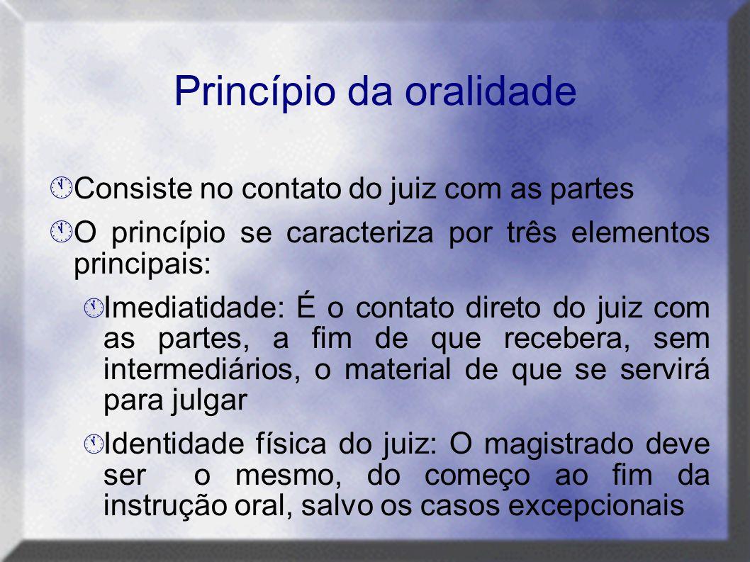 Princípio da oralidade