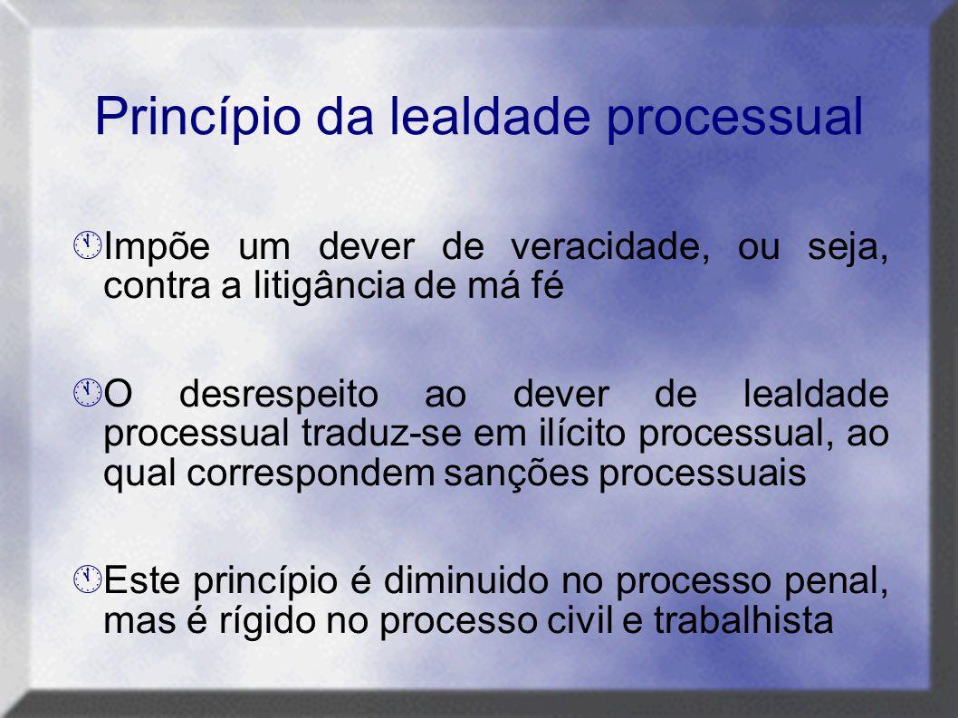 Princípio da lealdade processual