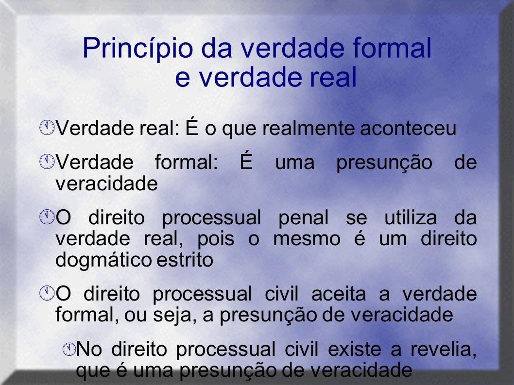 Princípio da verdade formal e verdade real