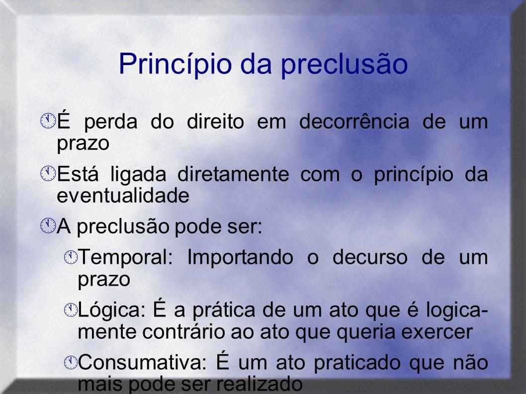 Princípio da preclusão