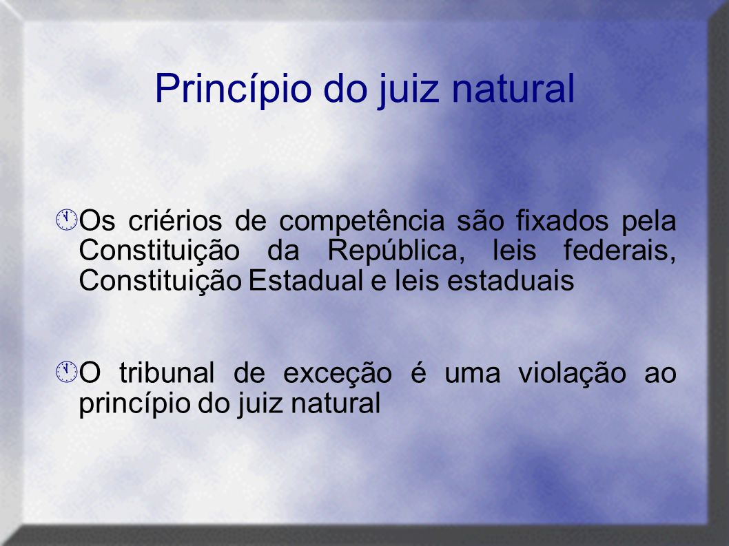 Princípio do juiz natural