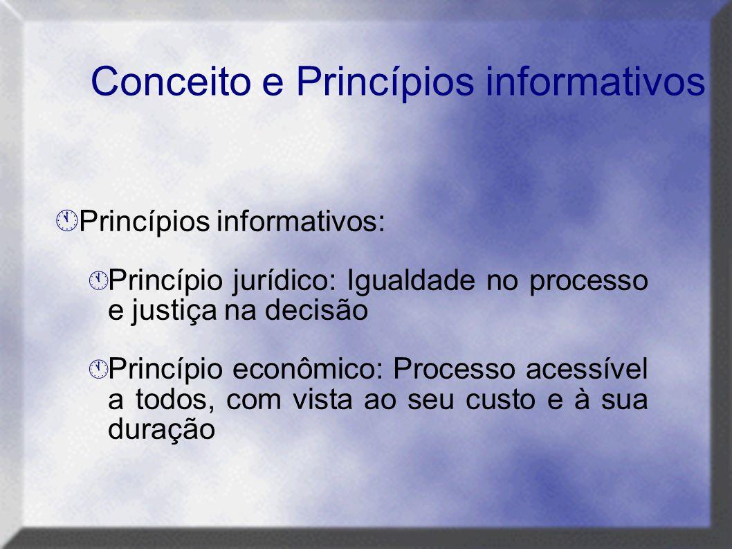 Conceito e Princípios informativos