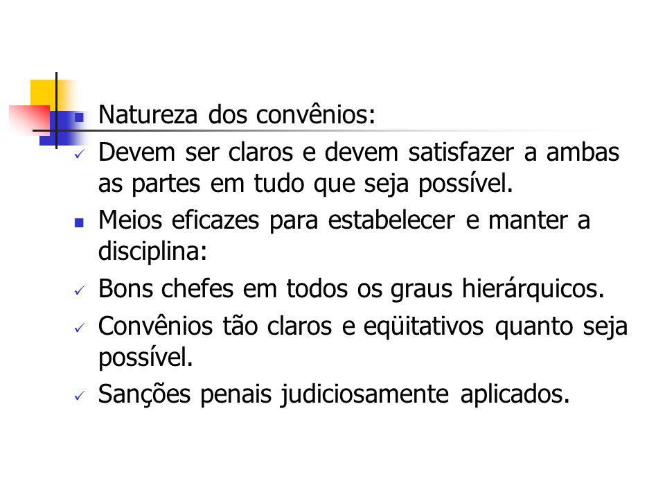 Natureza dos convênios: