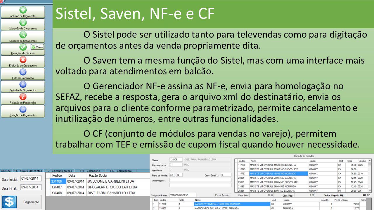 Sistel, Saven, NF-e e CF