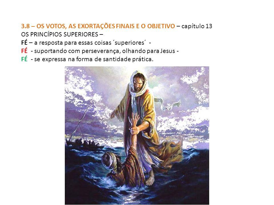 3.8 – OS VOTOS, AS EXORTAÇÕES FINAIS E O OBJETIVO – capítulo 13