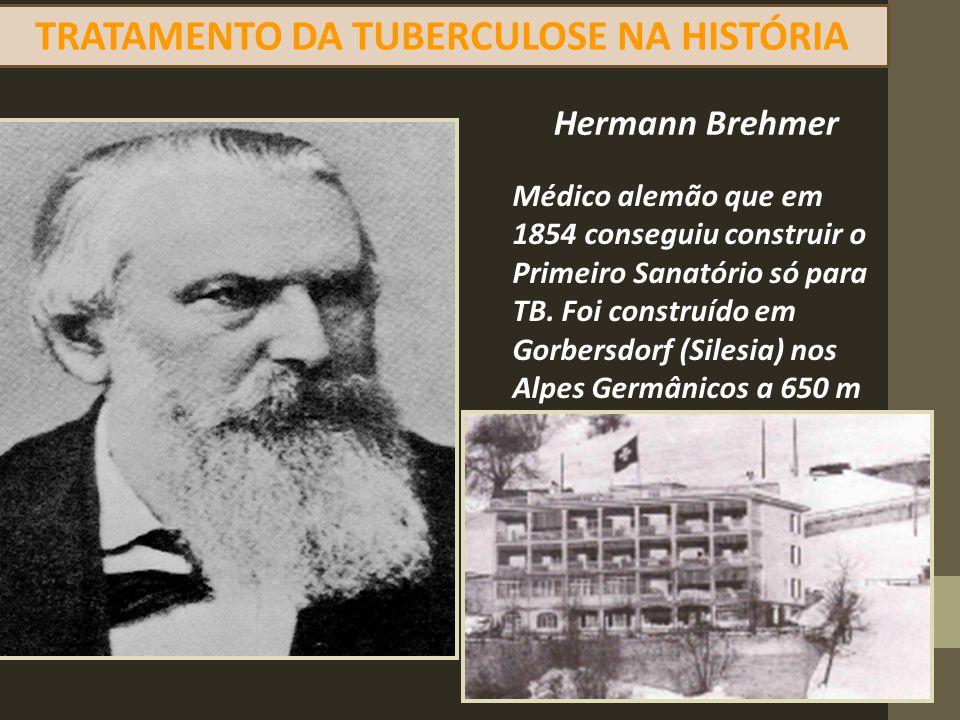 TRATAMENTO DA TUBERCULOSE NA HISTÓRIA