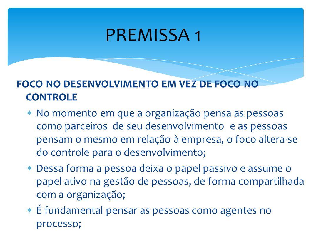 PREMISSA 1 FOCO NO DESENVOLVIMENTO EM VEZ DE FOCO NO CONTROLE