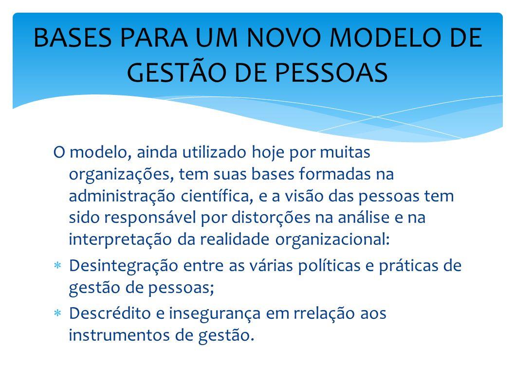 BASES PARA UM NOVO MODELO DE GESTÃO DE PESSOAS