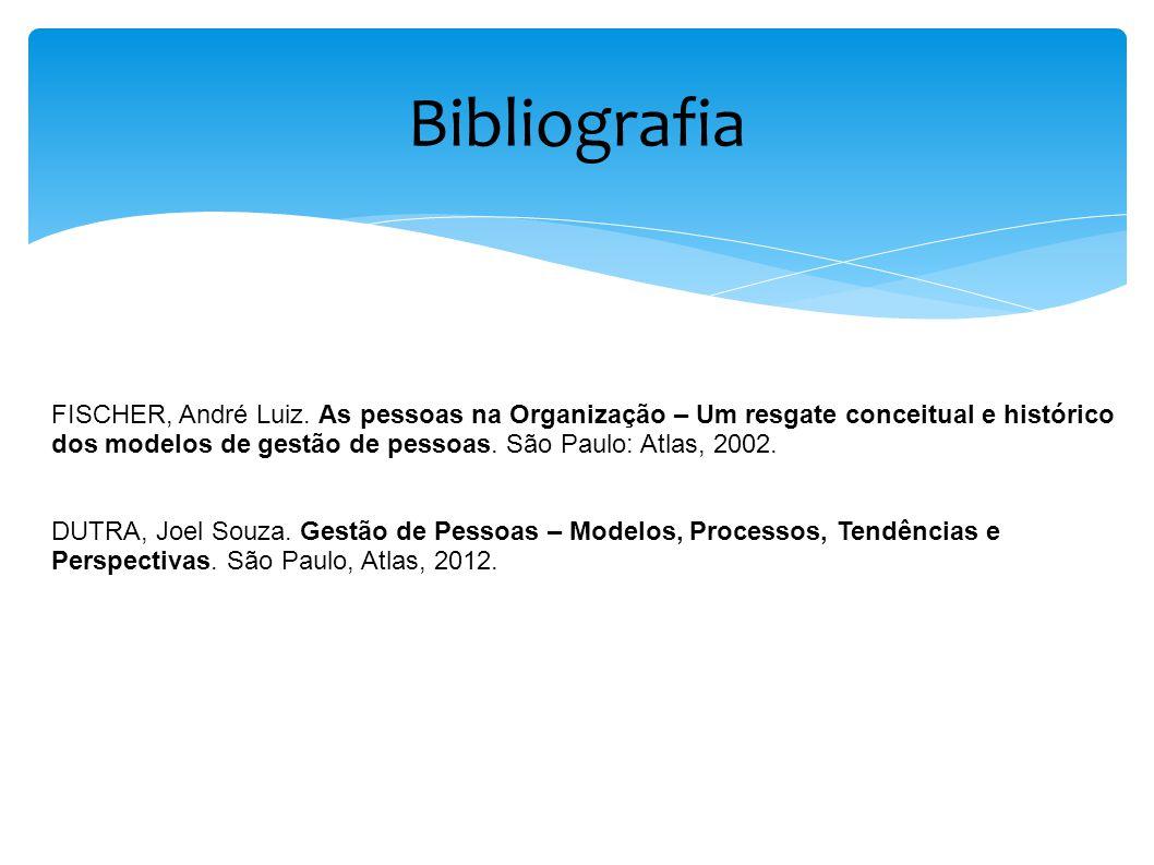 Bibliografia FISCHER, André Luiz. As pessoas na Organização – Um resgate conceitual e histórico.