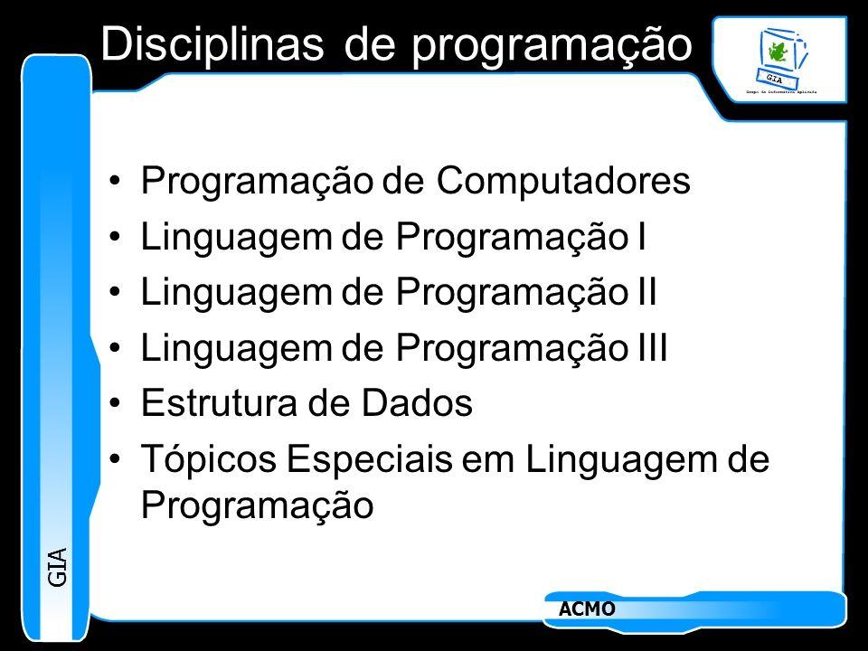 Disciplinas de programação